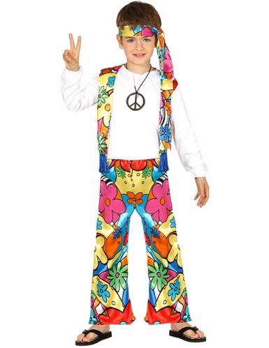 Bloemig hippie kostuum voor kinderen