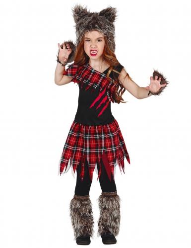 Campus weerwolf kostuum voor meisjes