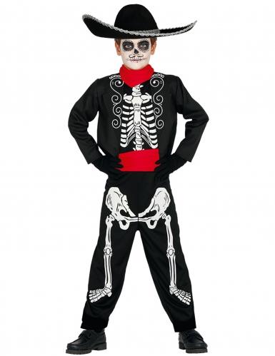 Dia de los Muertos skelet outfit voor jongens