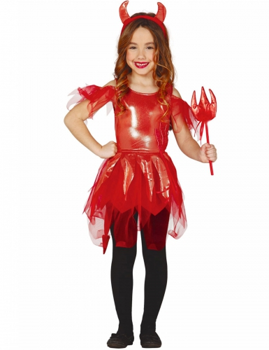 Shiny duivel kostuum voor meisjes
