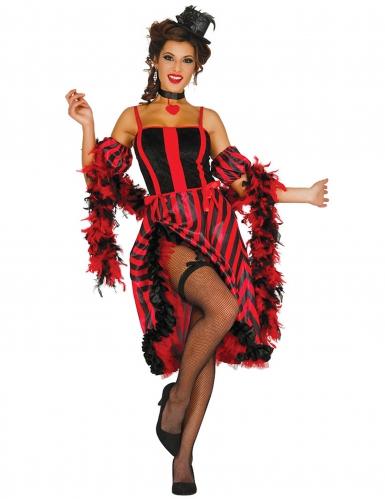Franse cancan danseres kostuum voor vrouwen