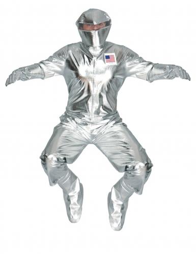 Zilverkleurig astronauten kostuum voor volwassenen