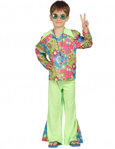 Groen hippiekostuum voor kinderen