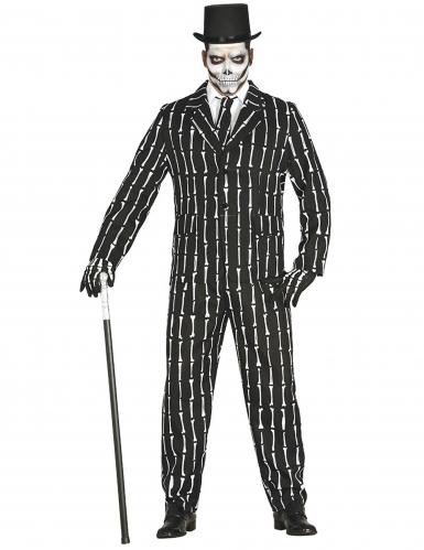 Mr. Bones skelet kostuum voor mannen