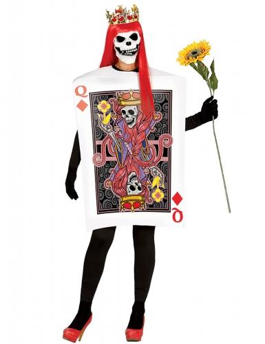 Skelet ruitenkoningin kostuum voor vrouwen