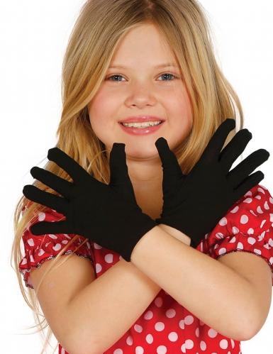 Korte zwarte handschoenen voor kinderen
