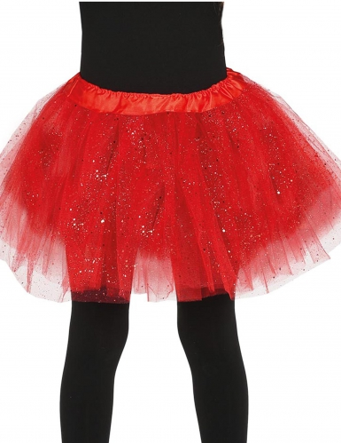 Rode tutu met glitters voor meisjes