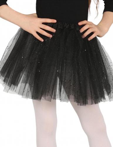 Zwarte tutu met glitters voor meisjes