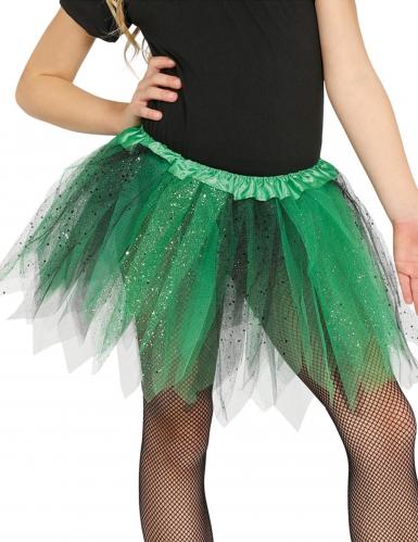 Groene en zwarte glitter tutu voor meisjes