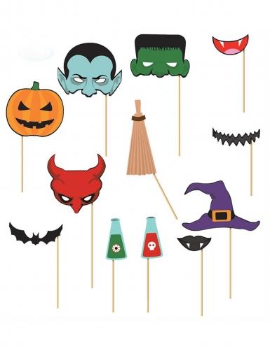 Halloween 12 delige photobooth set