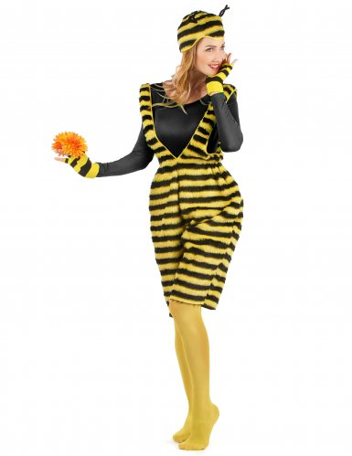 Pluche bijen overall voor volwassenen-1