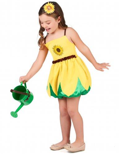Zonnebloem kostuum voor meisjes-1