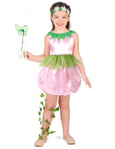 Groen-roze fee kostuum voor meisjes