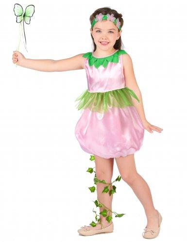Groen-roze fee kostuum voor meisjes-1