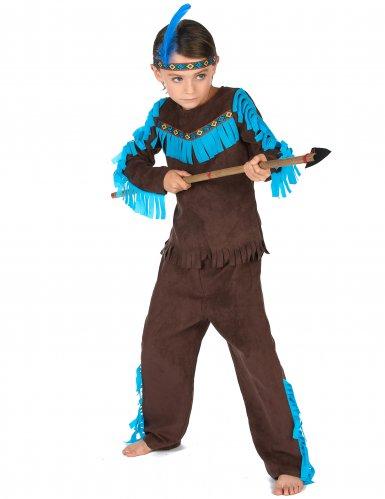 Bruin indianen kostuum voor jongens-1