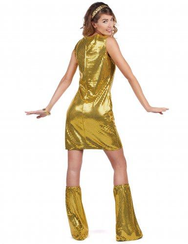 Goudkleurig disco kostuum voor dames-2