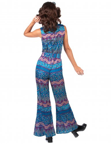 Blauw jaren 70 kostuum voor dames-2