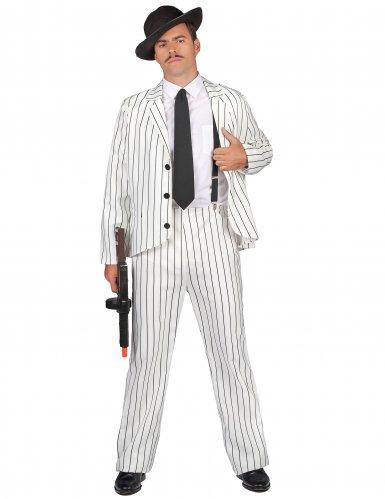 Wit gangster pak voor mannen