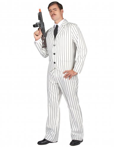 Wit gangster pak voor mannen-1