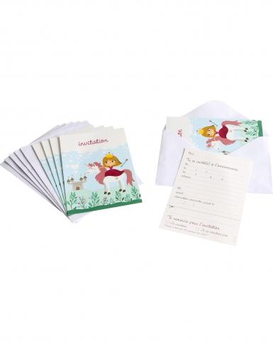 6 prinses uitnodigingen met enveloppen (Franstalig).