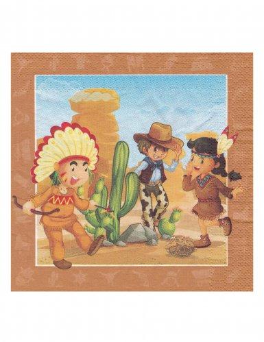 20 servetten cowvboys en indianen