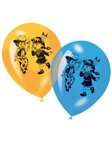 6 ballonnen cowboys en indianen