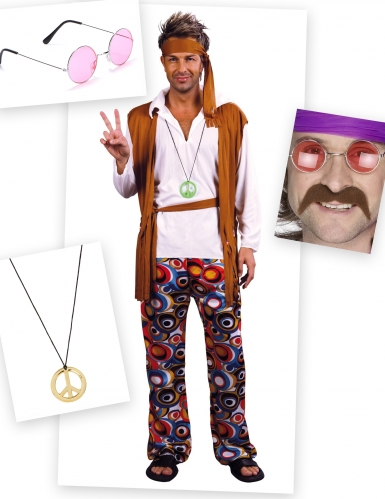 Hippie kostuum pack voor mannen