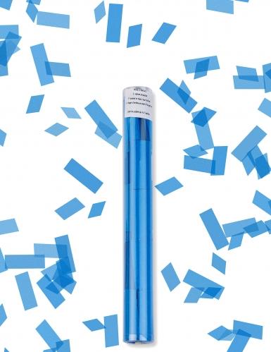 Turquoise rechthoekige confetti kanon