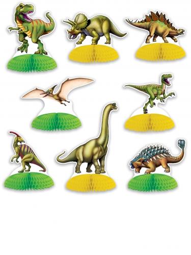 8 mini dinosaurus tafeldecoraties