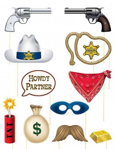 Western photobooth accessoire set
