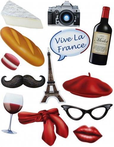 Franse photobooth accessoire set