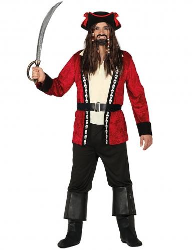 Doodskop piraten kapitein kostuum voor mannen