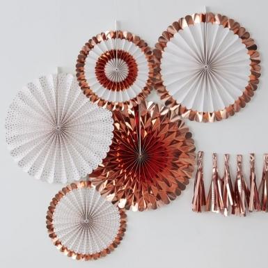 5 metallic roségouden rozet decoraties-1