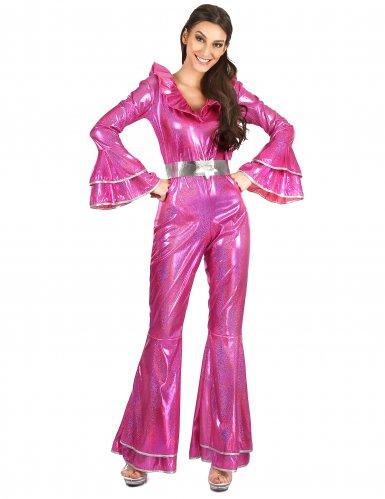 Roze disco pak voor dames