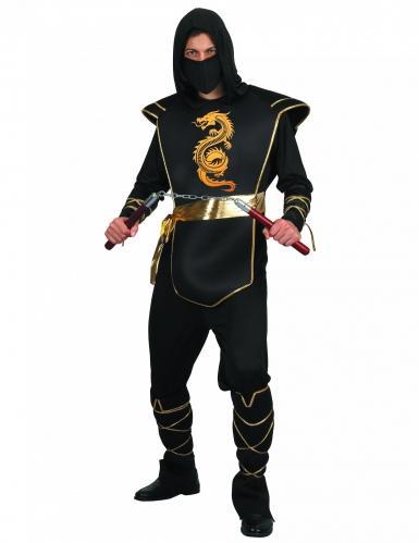 Zwart ninja pak voor mannen