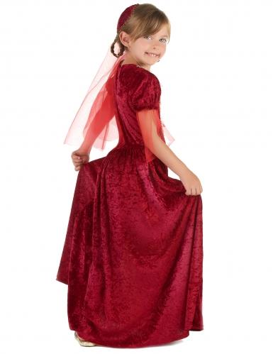 Rood middeleeuws gravin kostuum voor meisjes-1