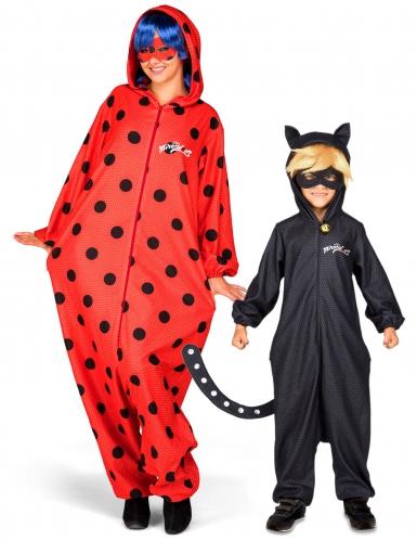 Ladybug™ en Cat Noir™ ouder en kind koppelkostuum