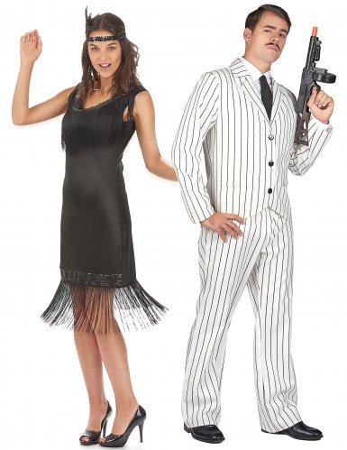 Klassiek charleston en gangster koppelkostuum voor volwassenen