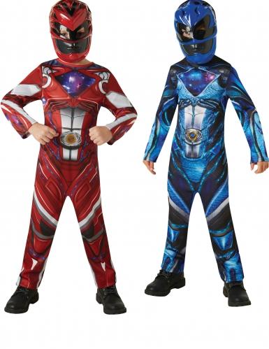 Blauw en rood Power Rangers™ kostuum voor kinderen