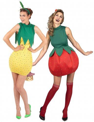 Ananas en aardbei koppelkostuum voor vrouwen