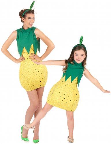 Ananas koppelkostuum voor moeder en dochter