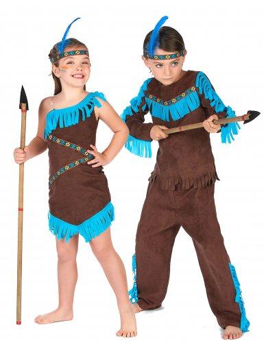 Bruin indianen koppelkostuum voor kinderen