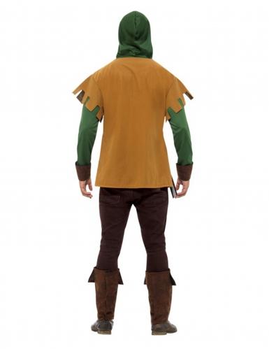 Beige en groen bos bandiet kostuum voor mannen-1
