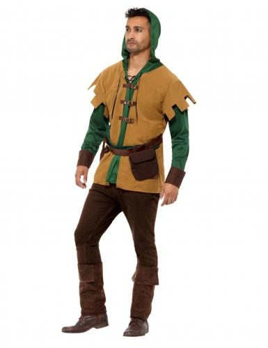 Beige en groen bos bandiet kostuum voor mannen-2