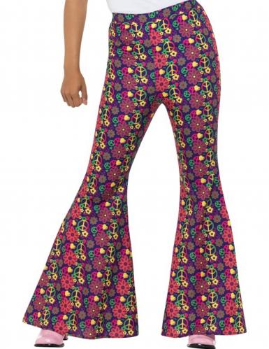Flower Power hippie broek voor dames