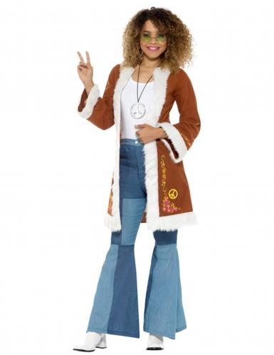 Bruine hippie jas voor dames