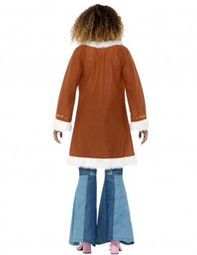 Bruine hippie jas voor dames-1