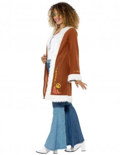 Bruine hippie jas voor dames-2
