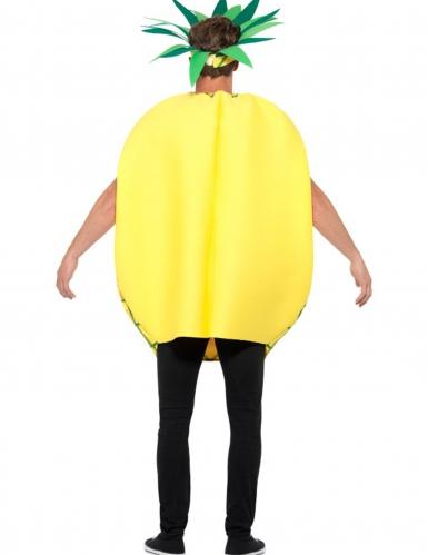 Geel en groen ananas kostuum voor volwassenen-1