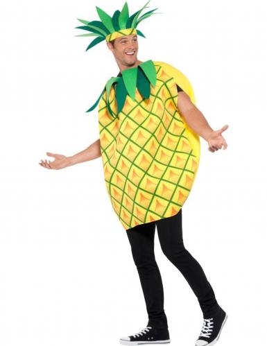 Geel en groen ananas kostuum voor volwassenen-2